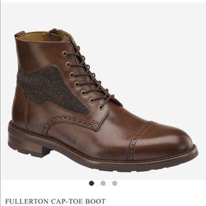 MENS Johnston & Murphy Fullerton Cap-Toe Boot